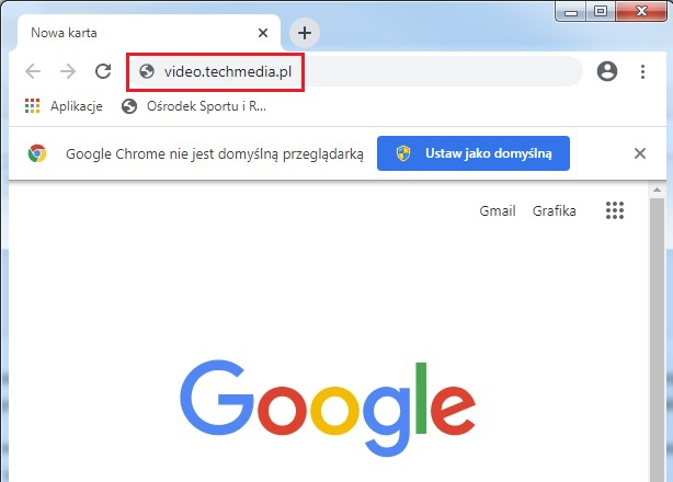 Chrome pasek adresu